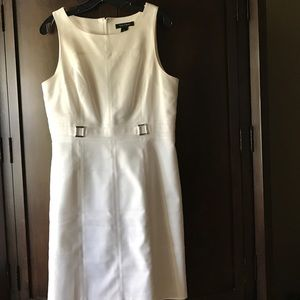 White sleeveless Dress by WHBM Size 12