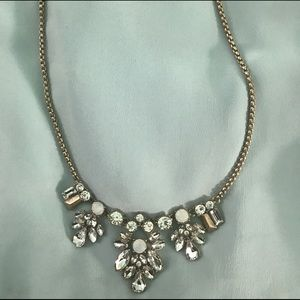 Rhinestone statement necklace
