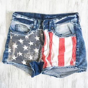 american flag high waisted shorts on Poshmark