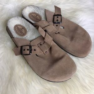 American Eagle Outfitters Shoes - American Eagle Suede Slide On Mules