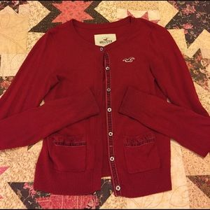 Hollister Sweaters - Red Hollister sweater