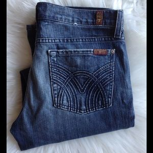 7 For All Mankind Denim - 7 For All Mankind Cropped Bootcut Women's Jeans 30