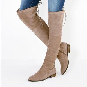 Sole Society Shoes - NWT Sole Society Valencia OTK taupe Suede sz 8