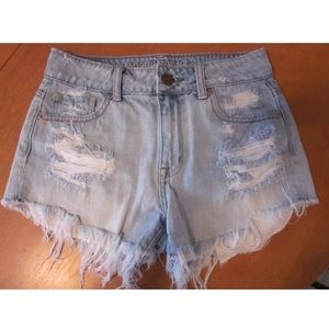 American Eagle Outfitters Pants - American eagle distressed hi rise jean shorts 0