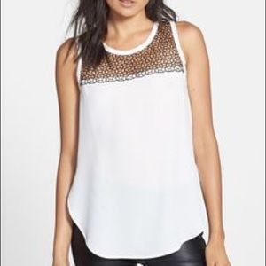 ASTR Tops - ASTR White High Low Blouse