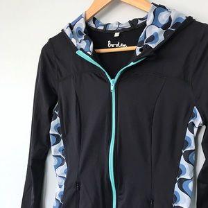 Boden Jackets & Blazers - Boden Activewear Blue Yoga Running Hooded Jacket