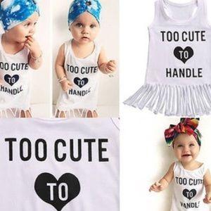 Other - Boutique Toddler Girl Tshirt Fringe Dress