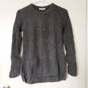 Madewell Sweaters - Madewell grey hexcomb texture sweater size XS