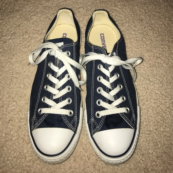 c11acaa35553 Converse Shoes - Gently Worn Navy Blue Converse Sneakers