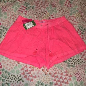 NWT Lilly Pulitzer beach linen shorts medium