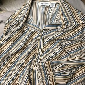 apparenza Tops - Blouse button front 3/4 sleeve stripe print