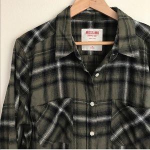 Mossimo Supply Co. Tops - Flannel Button-Down | Boyfriend Cut
