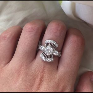 Jewelry - Cubic Zirconia & Sterling Silver Ring!