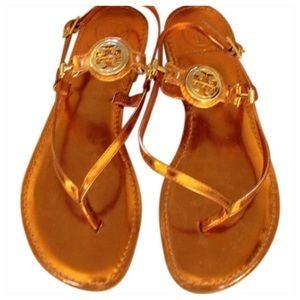 Tory Burch Shoes - Tory Burch Bougainville Metallic sandal size 6