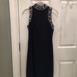 Marina Rinaldi Dresses & Skirts - Beautiful navy beaded dress.