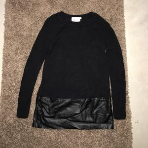 Yoon Sweaters - Sweater with leather bottom