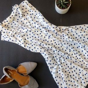 Anthropologie Tops - Anthropologie TYLHO Blue Polka Dot Percy Tunic M
