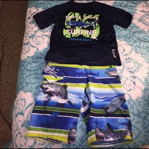 ZeroXposur Other - NEW Great White Shark 🦈 Boys Swim Top & Trunks