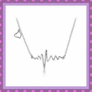 Boutique Jewelry - 💜Silver Alloy EKG/Heart Necklace💜