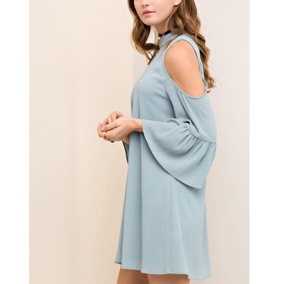Bellanblue Dresses - CAYMIELYNN open shoulder dress - SEAFOAM