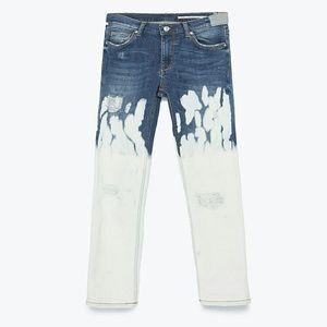 Zara Denim - ZARA WOMAN Cigarette Fit Bleached Skinny Jeans