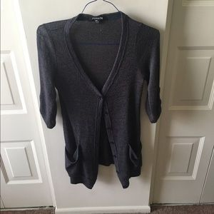 Long, Navy, Forever 21 Cardigan!
