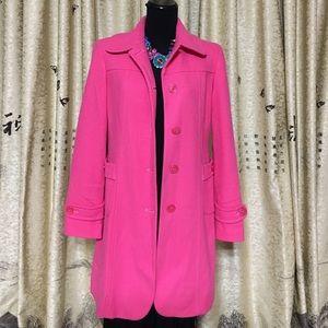 Sisley Jackets & Blazers - SISLEY PINK COAT SIZE 42
