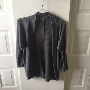 Gray 3/4 Sleeve Cardigan!