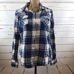 Mossimo Supply Co. Tops - Mossimo Plaid Snap On Button Down Size XL