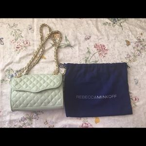 Rebecca Minkoff Quilted Mini Affair Bag in Aloe