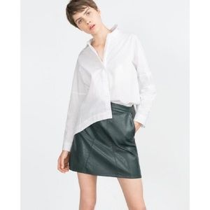 Zara Dresses & Skirts - 30% OFF BUNDLES Zara Faux Leather Mini Skirt EUC