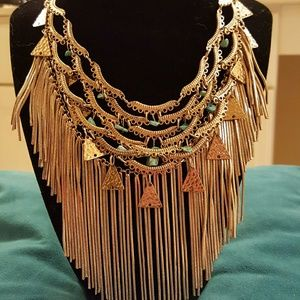 nOir Jewelry Jewelry - 🕌🕌   Gold & Turquoise Cleopatra Necklace 🕌🕌