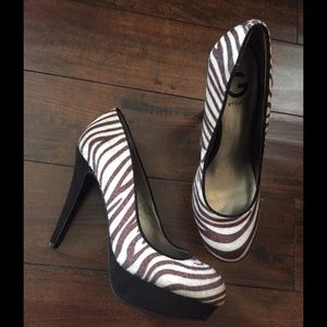 Guess Shoes - Zebra print GUESS heels