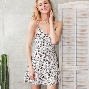 B-Long Boutique  Dresses & Skirts - white and pink dainty floral summer cami dress