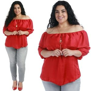 Tops - Plus size red top 1x 2x 3x