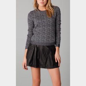 Theory Sweaters - Theory Wool Chevron Printed Crewneck Sweater