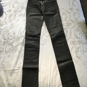 earnest sewn Denim - Black shinny skinny jeans