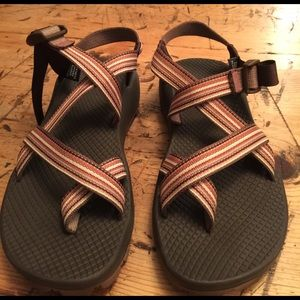 Chacos Shoes - Women's brown and rust Chacos