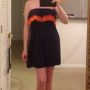 Vava by Joy Han Dresses & Skirts - Orange and Navy Blue dress