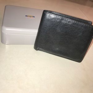 Fossil Other - Fossil L-Zip Bifold Genuine Leather Men's Wallet