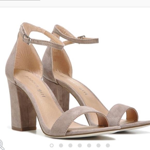 4003b2b31b6 NWT madden girl beella nude ankle strap heel pumps NWT