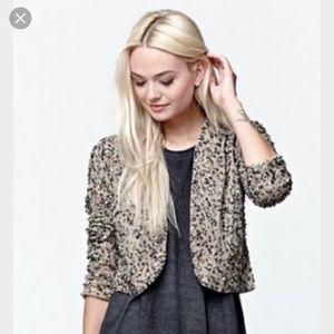 Cleobella Jackets & Blazers - Billabong Eyes on Me sequin bolero jacket