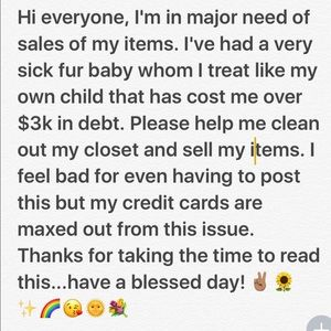 Other - I NEED TO SELL MY ITEMS TO PAY FOR MY SICK CAT!