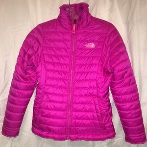 North Face Other - Fuschia Girls REVERSIBLE NorthFace jacket/coat!