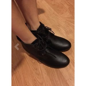 SavedByTheShoes Shoes - Retro Lace Up Oxford Wedge