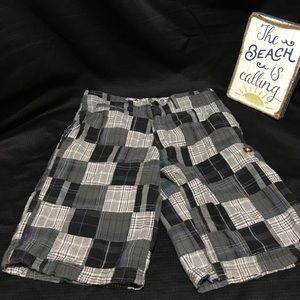 Airwalk Other - Airwalk Plaid Gray and Black Shorts