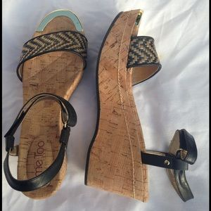Me Too Shoes - Me Too Chanella 12 Natural Wedge Sandals