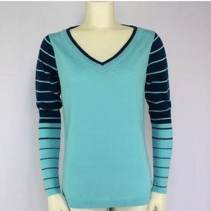 Smartwool Sweaters - SmartWool Aqua Teal Merino Wool V-Neck Sweater