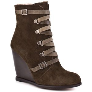 BCBGeneration Shoes - BCBG Generation Kadeer suede wedge booties
