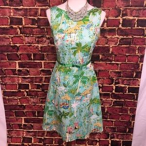 Sangria Dresses & Skirts - Sangria Sleeveless Tropical Dress